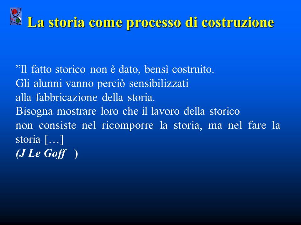 La storia come processo di costruzione