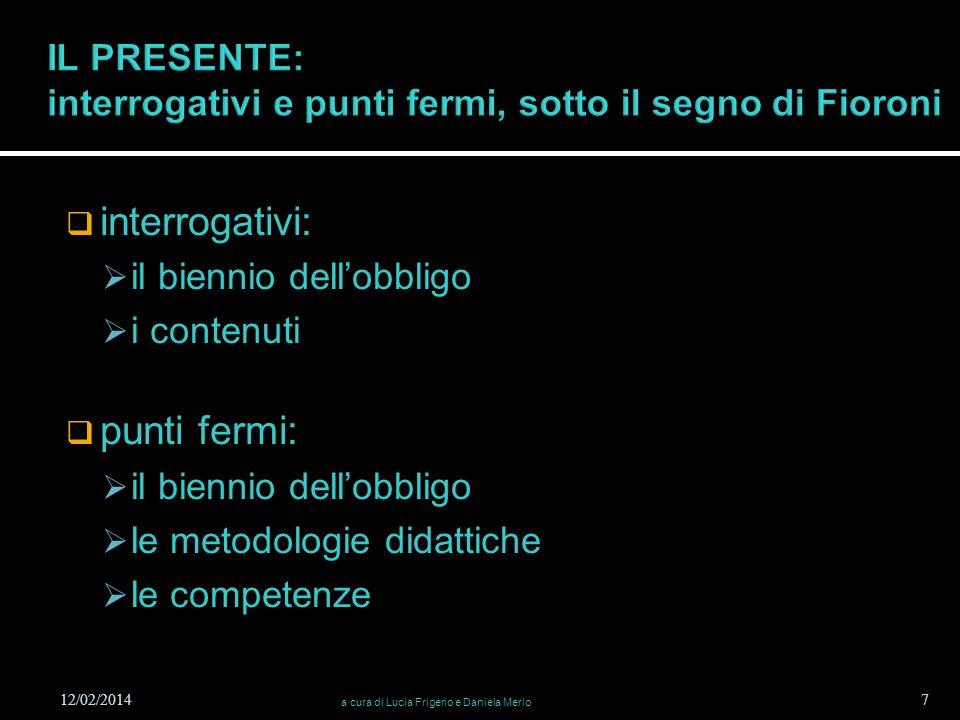 IL PRESENTE: interrogativi e punti fermi, sotto il segno di Fioroni