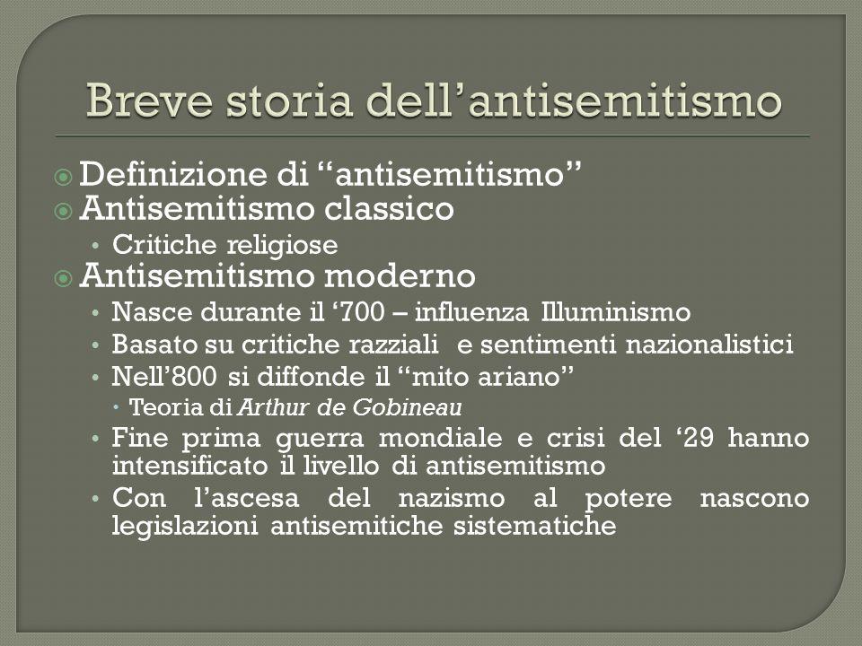 Breve storia dell'antisemitismo
