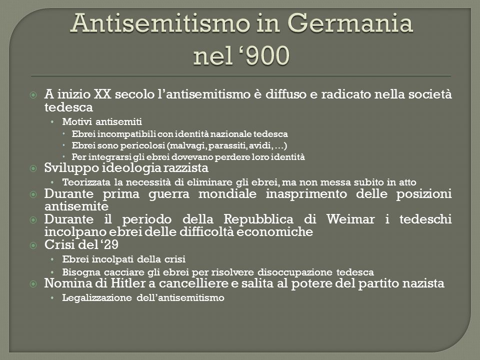 Antisemitismo in Germania nel '900