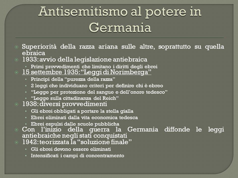 Antisemitismo al potere in Germania