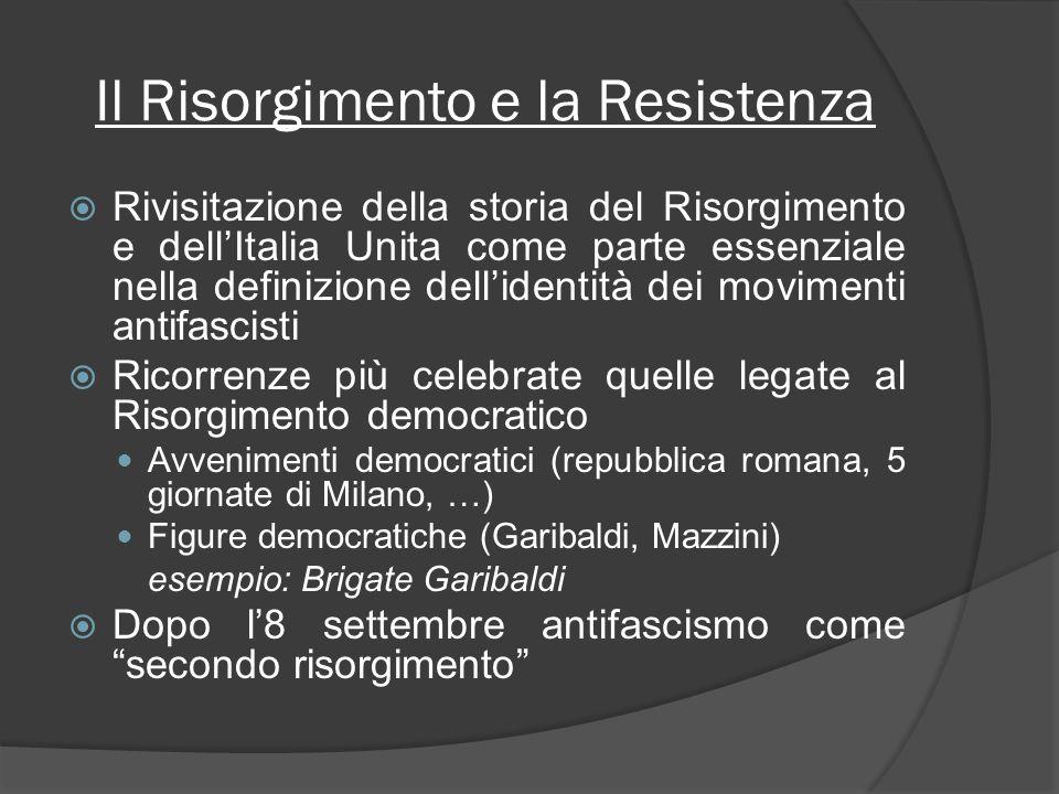 Il Risorgimento e la Resistenza