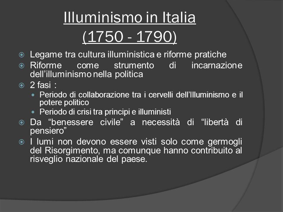 Illuminismo in Italia (1750 - 1790)