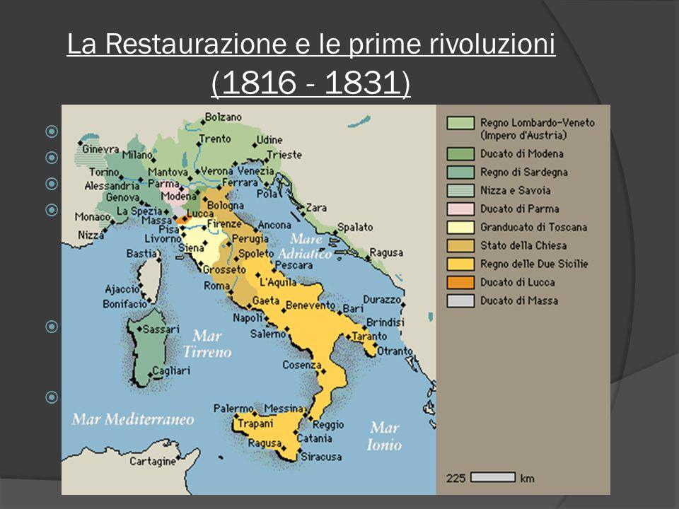 La Restaurazione e le prime rivoluzioni (1816 - 1831)