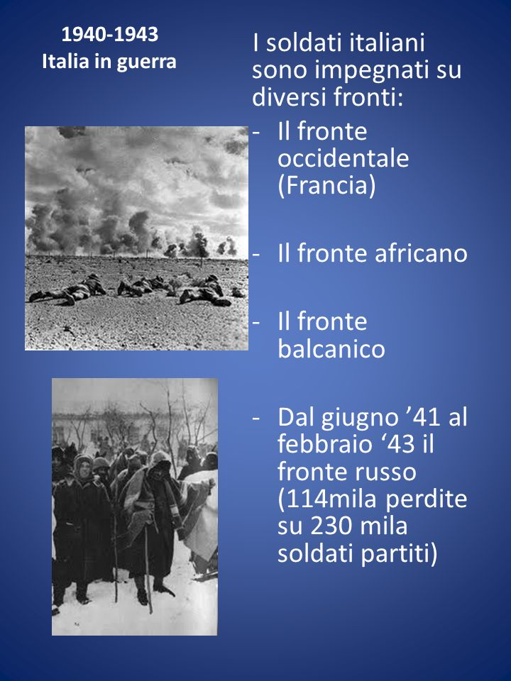 I soldati italiani sono impegnati su diversi fronti: