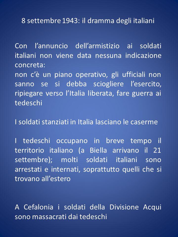 8 settembre 1943: il dramma degli italiani