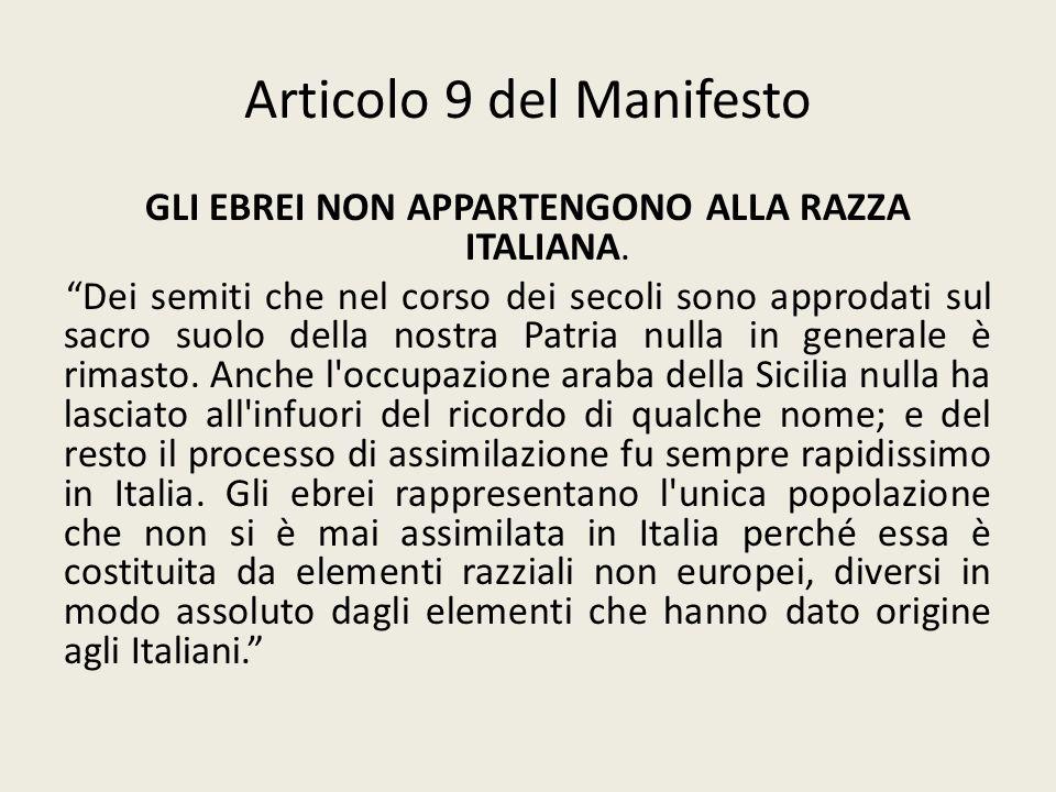 Articolo 9 del Manifesto