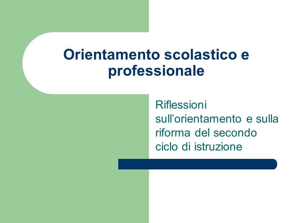 Orientamento scolastico e professionale