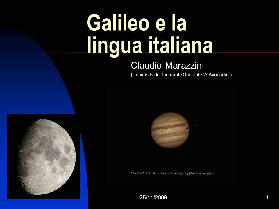 Galileo e la lingua italiana