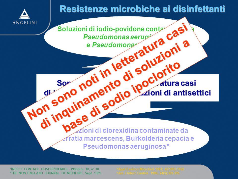 Resistenze microbiche ai disinfettanti