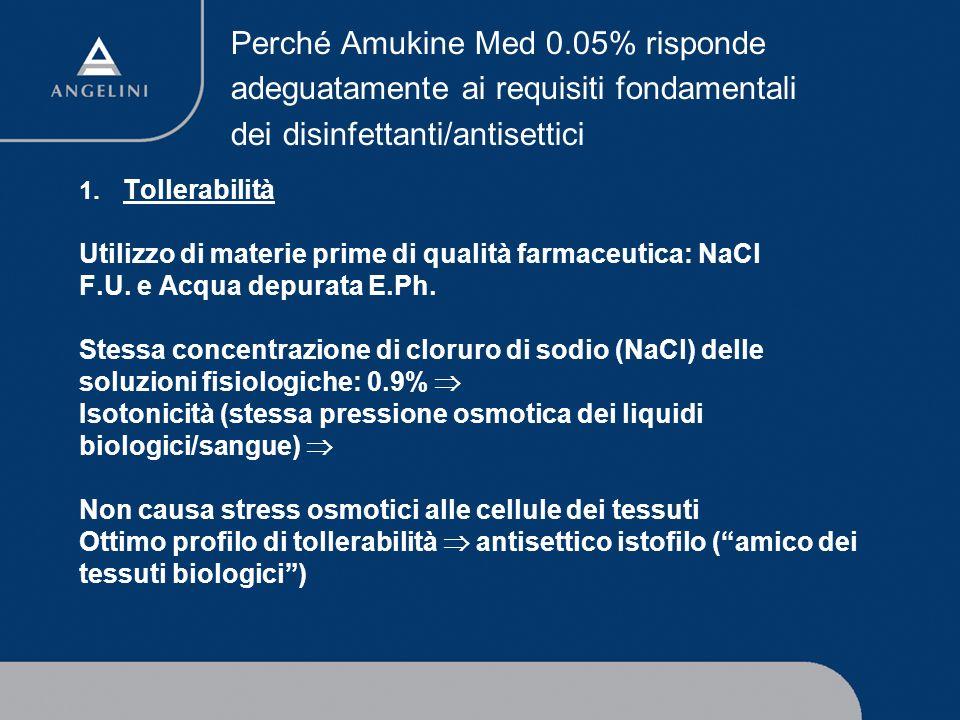 Perché Amukine Med 0.05% risponde adeguatamente ai requisiti fondamentali dei disinfettanti/antisettici