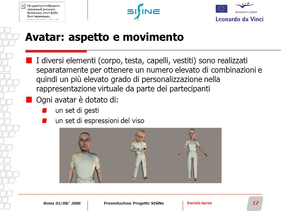 Avatar: aspetto e movimento