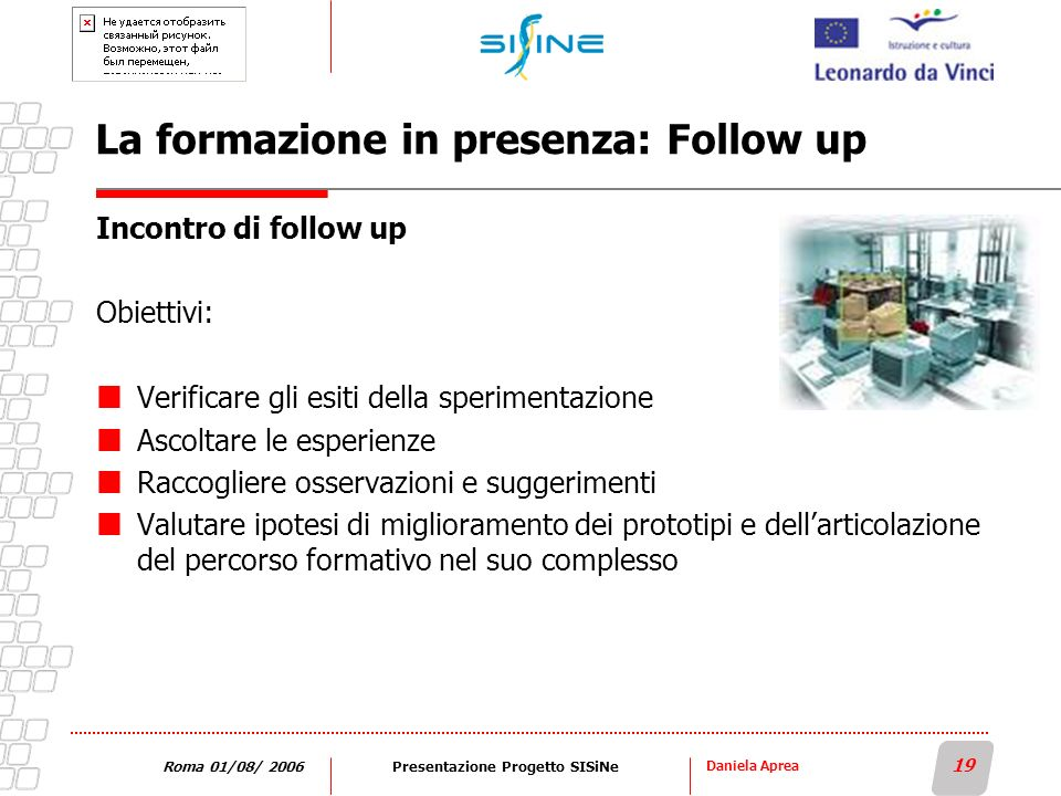 La formazione in presenza: Follow up