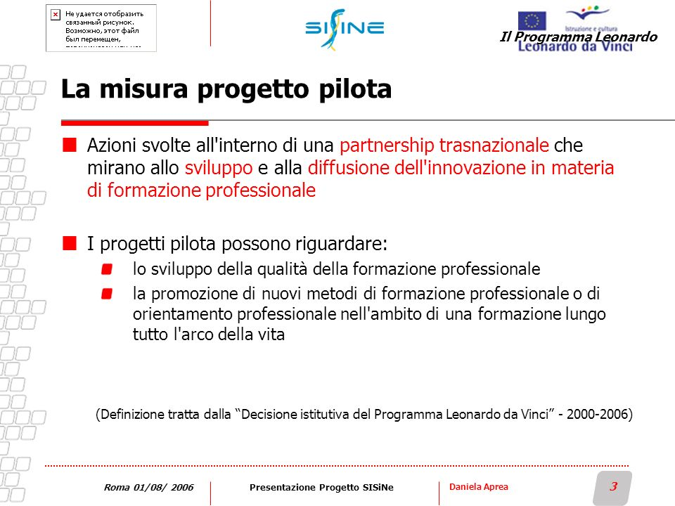 La misura progetto pilota