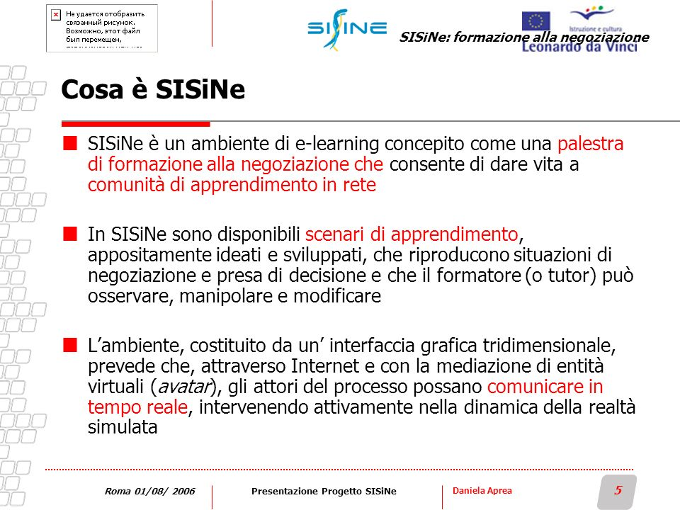 Presentazione Progetto SISiNe