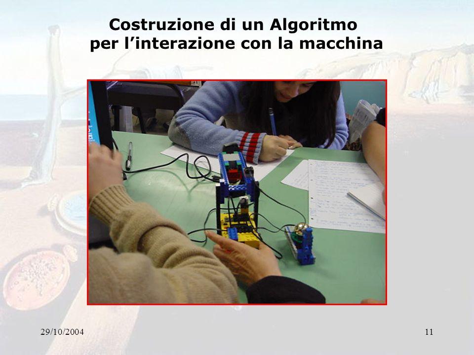 Costruzione di un Algoritmo per l'interazione con la macchina
