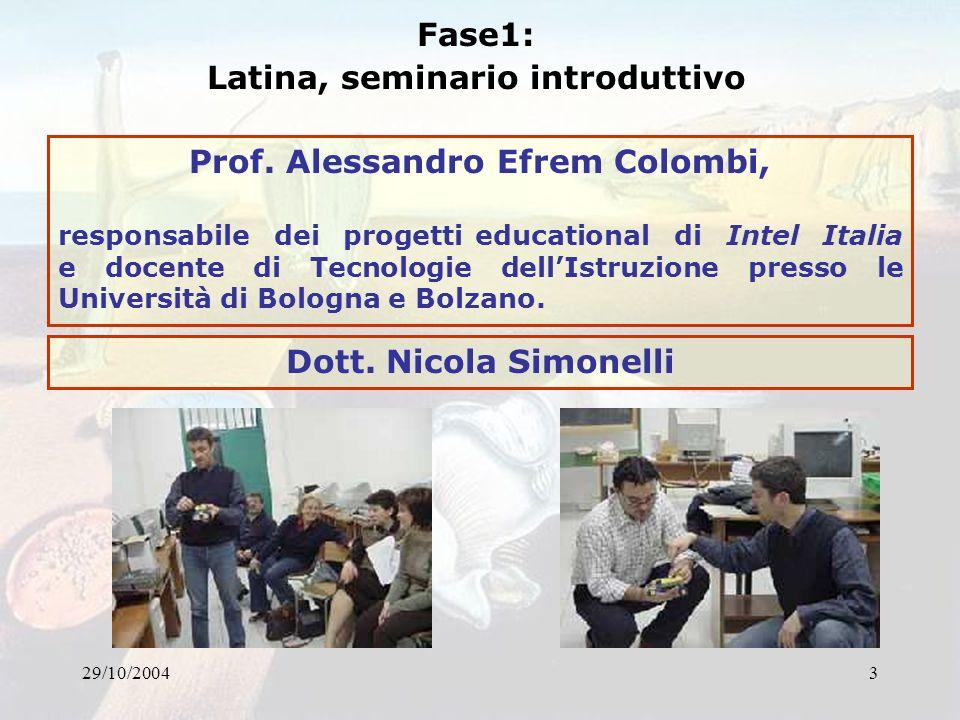 Latina, seminario introduttivo Prof. Alessandro Efrem Colombi,