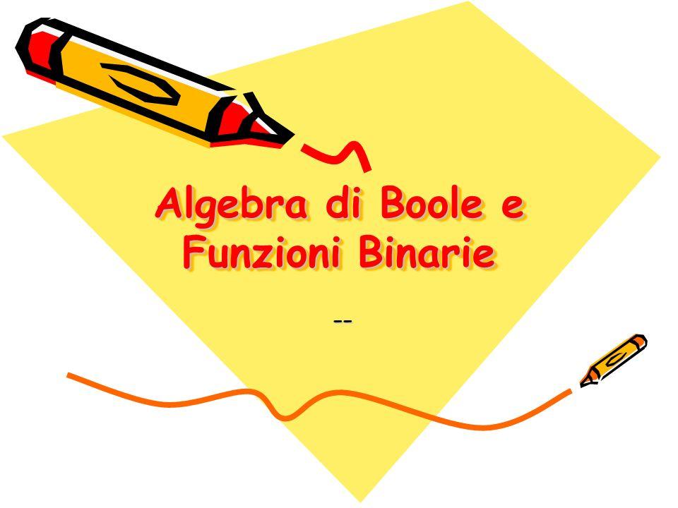 Algebra di Boole e Funzioni Binarie