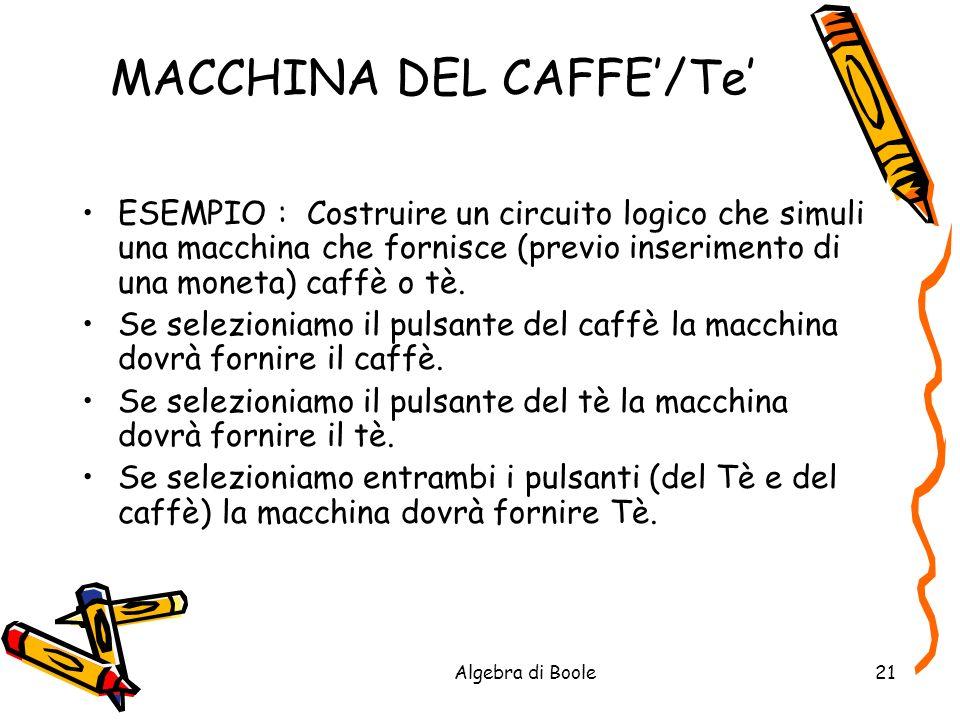 MACCHINA DEL CAFFE'/Te'