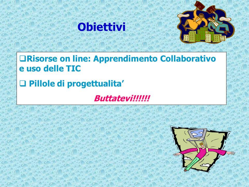 Obiettivi Risorse on line: Apprendimento Collaborativo e uso delle TIC