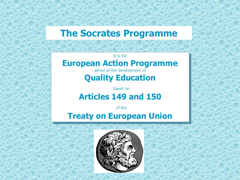 The Socrates Programme Treaty on European Union