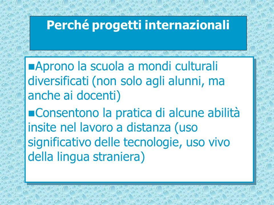 Perché progetti internazionali