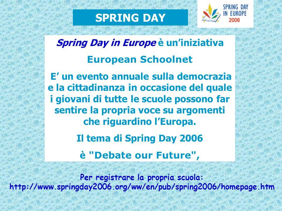 Spring Day in Europe è un'iniziativa Per registrare la propria scuola: