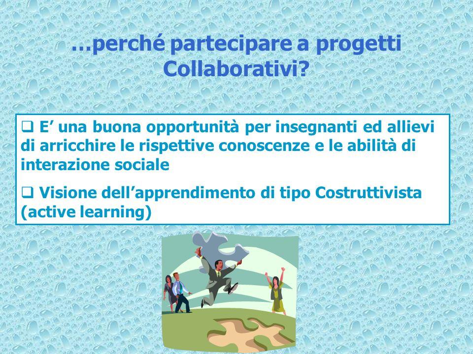 …perché partecipare a progetti Collaborativi