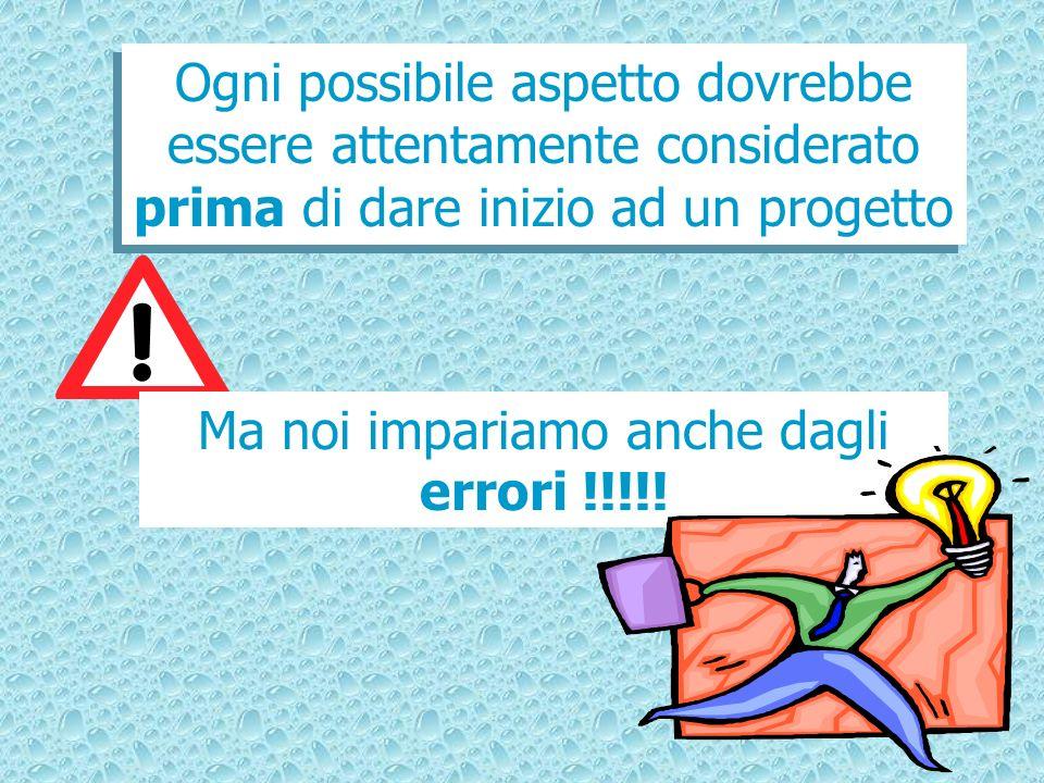 Ma noi impariamo anche dagli errori !!!!!