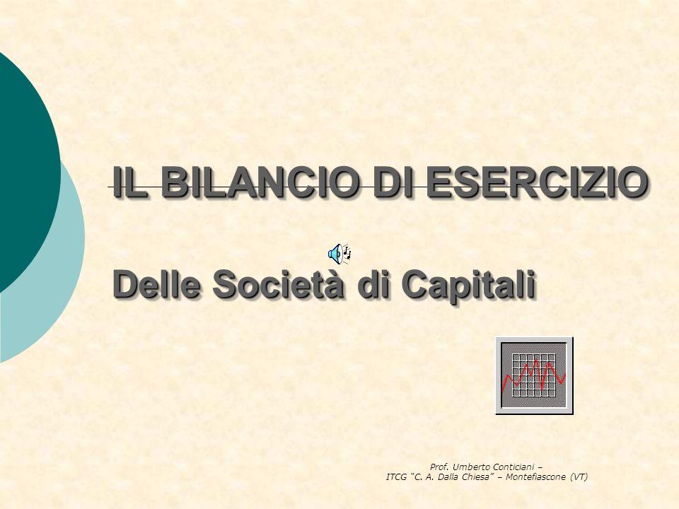 IL BILANCIO DI ESERCIZIO Delle Società di Capitali