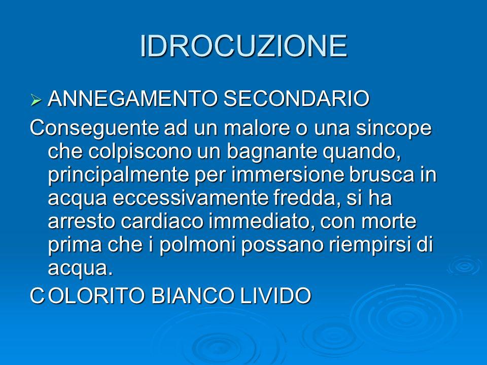 IDROCUZIONE ANNEGAMENTO SECONDARIO