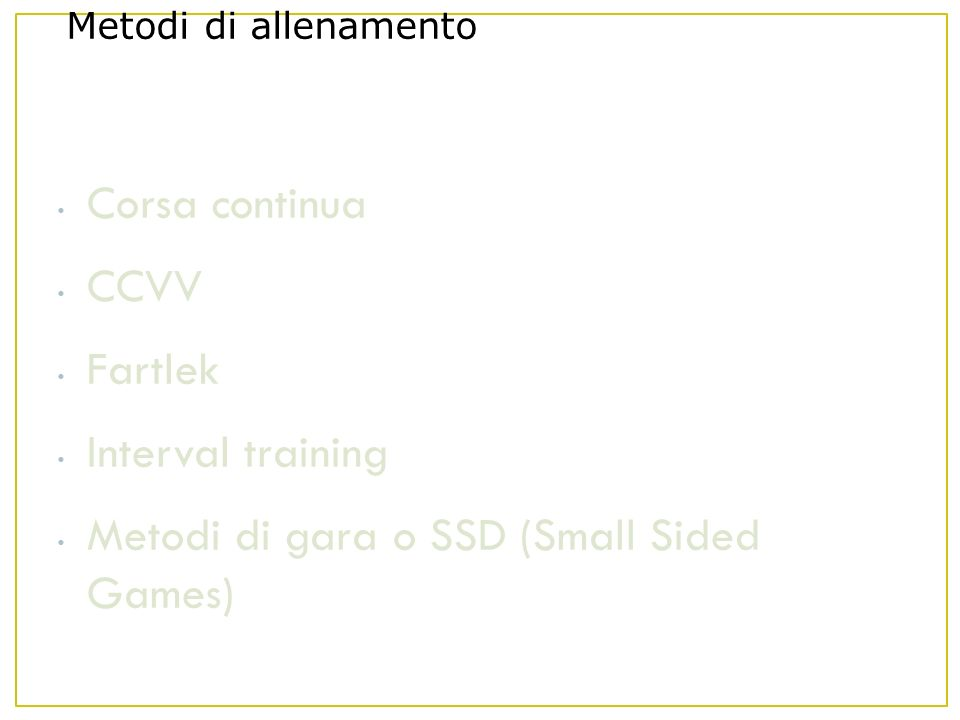 Metodi di gara o SSD (Small Sided Games)