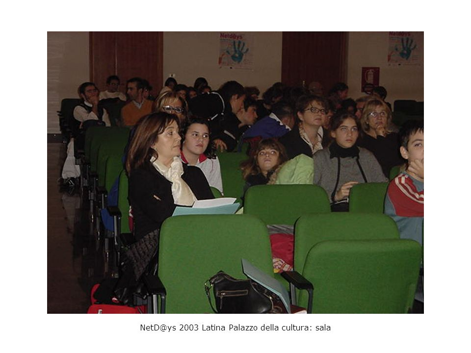 NetD@ys 2003 Latina Palazzo della cultura: sala