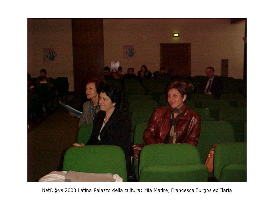 NetD@ys 2003 Latina Palazzo della cultura: Mia Madre, Francesca Burgos ed Ilaria