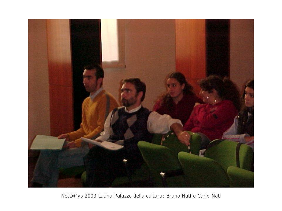 NetD@ys 2003 Latina Palazzo della cultura: Bruno Nati e Carlo Nati