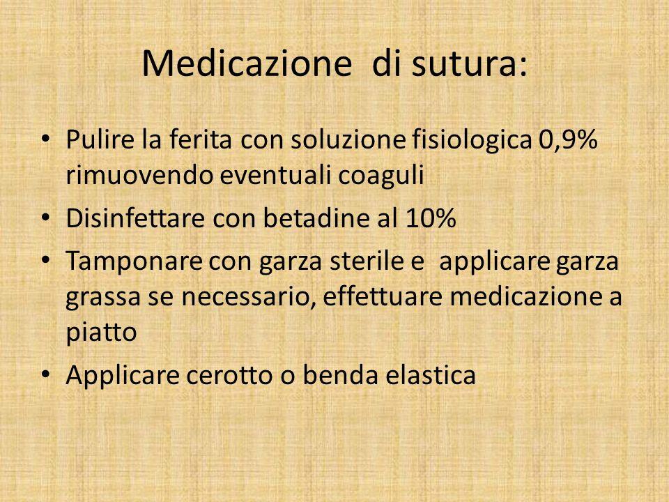 Medicazione di sutura: