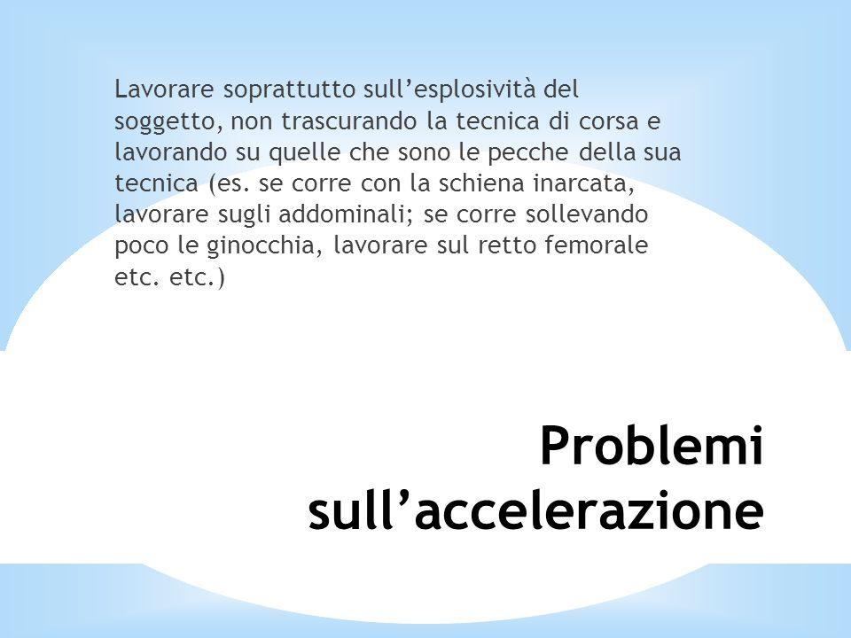 Problemi sull'accelerazione
