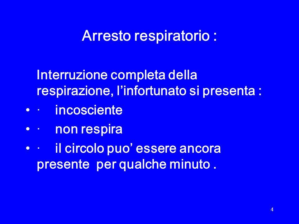 Arresto respiratorio :
