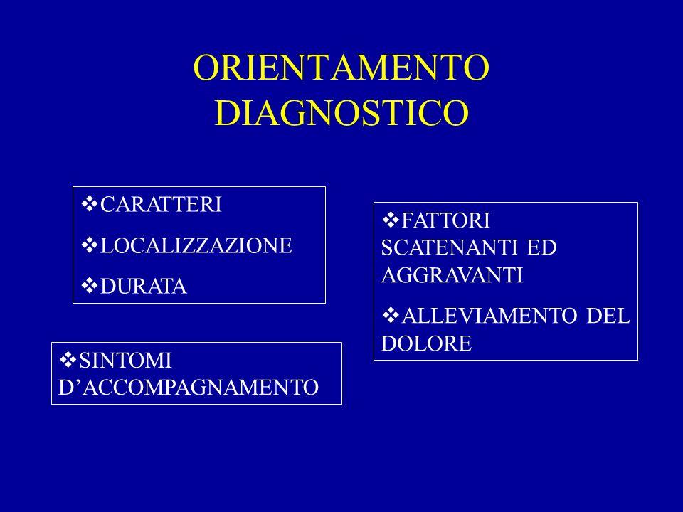 ORIENTAMENTO DIAGNOSTICO