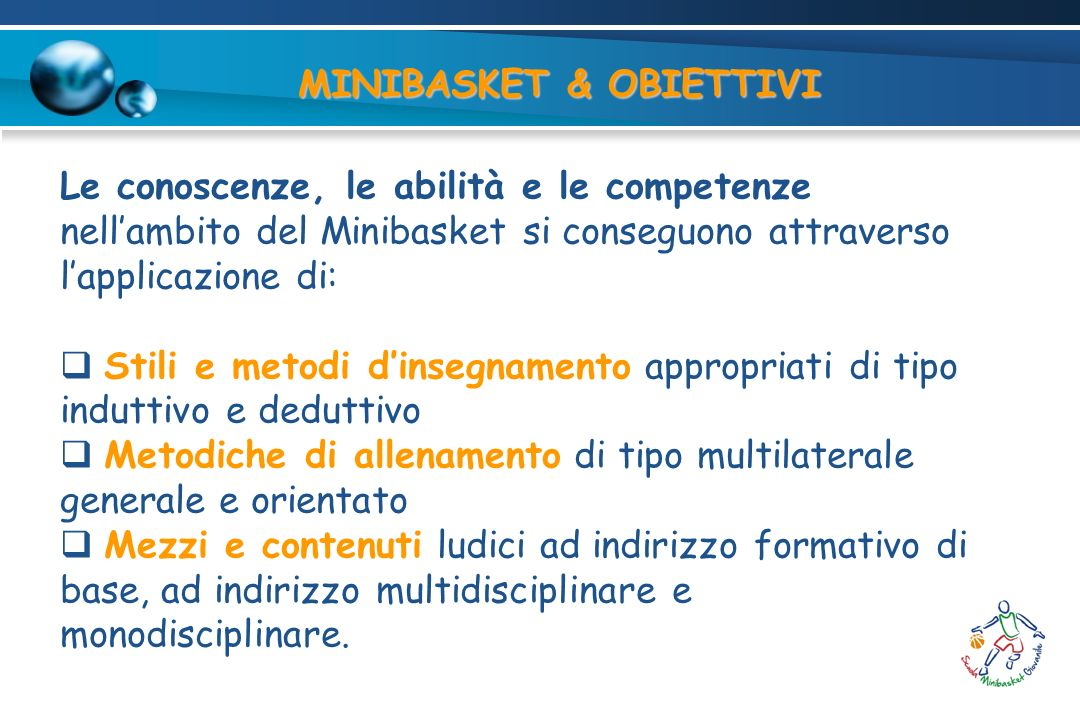 MINIBASKET & OBIETTIVI