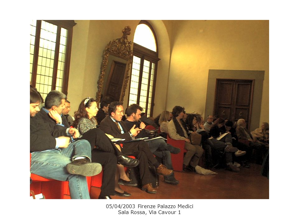 05/04/2003 Firenze Palazzo Medici Sala Rossa, Via Cavour 1