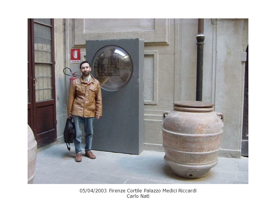 05/04/2003 Firenze Cortile Palazzo Medici Riccardi Carlo Nati