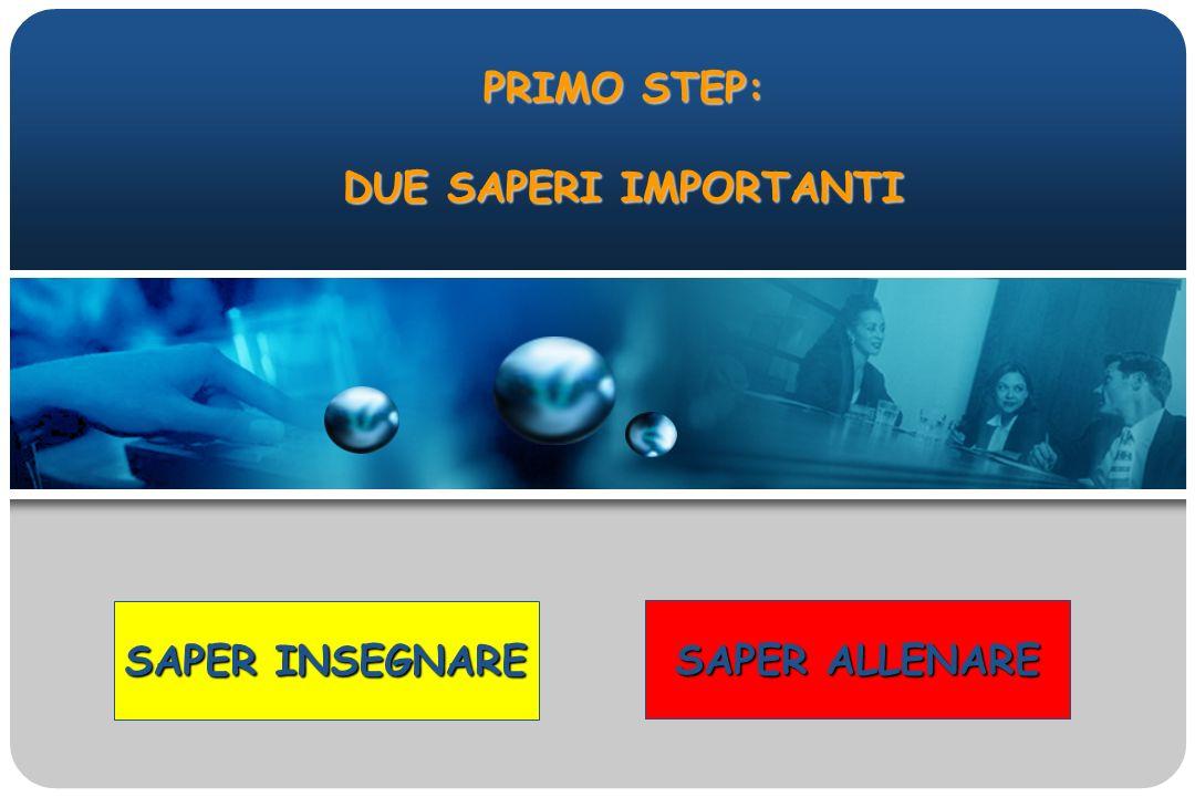 PRIMO STEP: DUE SAPERI IMPORTANTI SAPER INSEGNARE SAPER ALLENARE