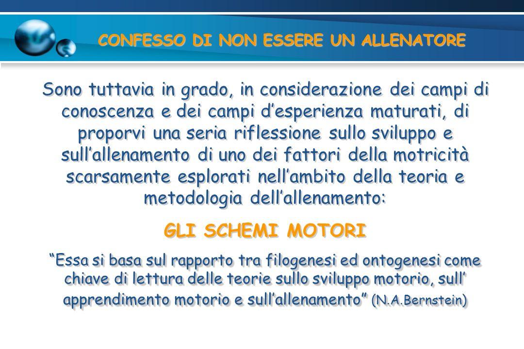 CONFESSO DI NON ESSERE UN ALLENATORE