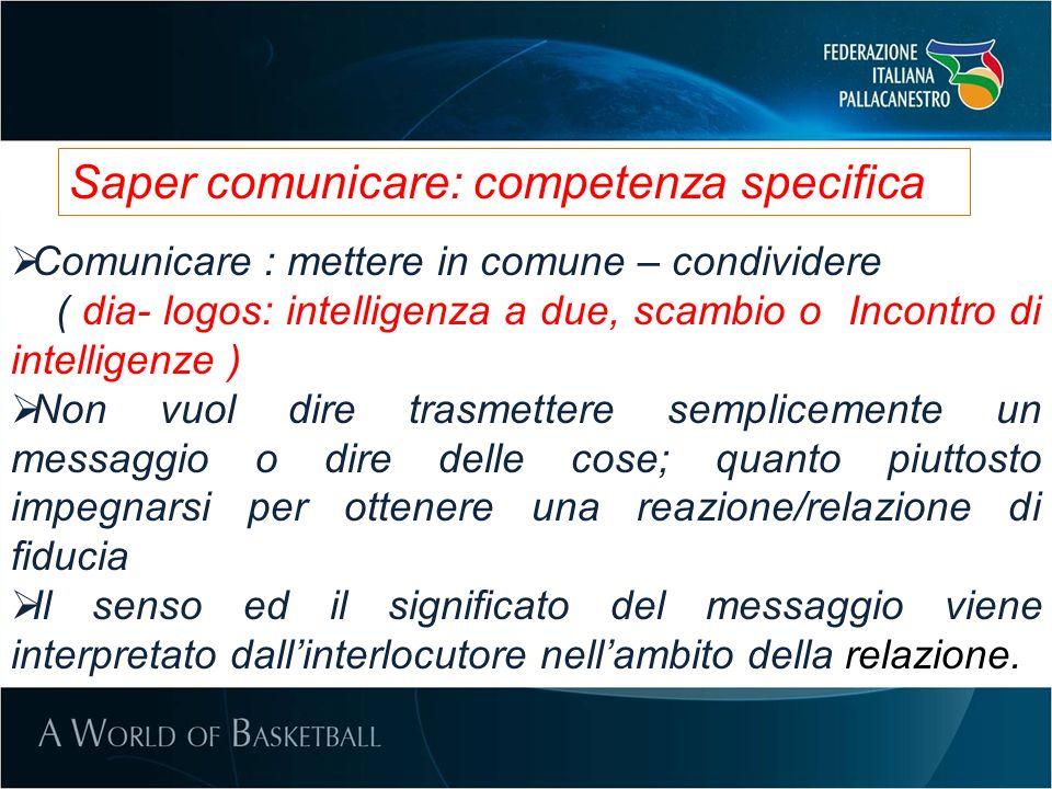 Saper comunicare: competenza specifica
