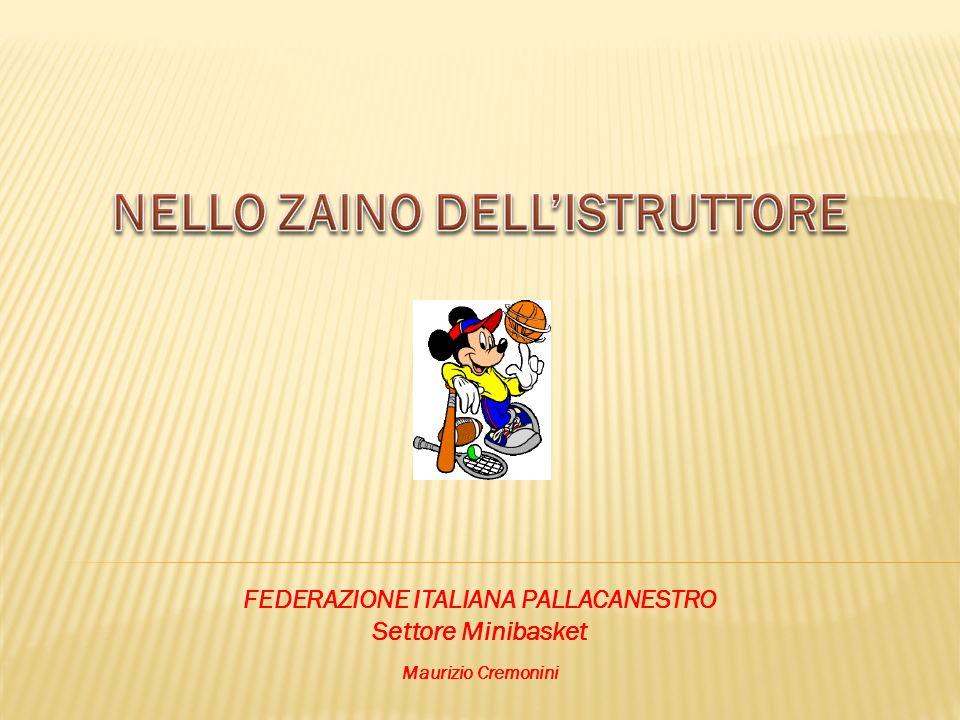 NELLO ZAINO DELL'ISTRUTTORE FEDERAZIONE ITALIANA PALLACANESTRO