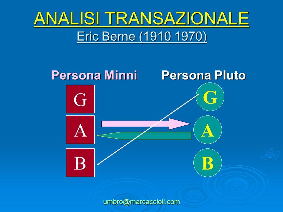 ANALISI TRANSAZIONALE Eric Berne (1910 1970)