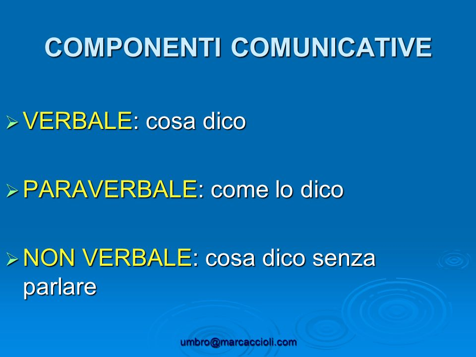 COMPONENTI COMUNICATIVE