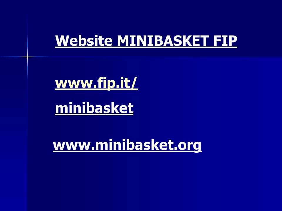 Website MINIBASKET FIP