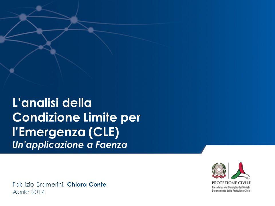 L'analisi della Condizione Limite per l'Emergenza (CLE)